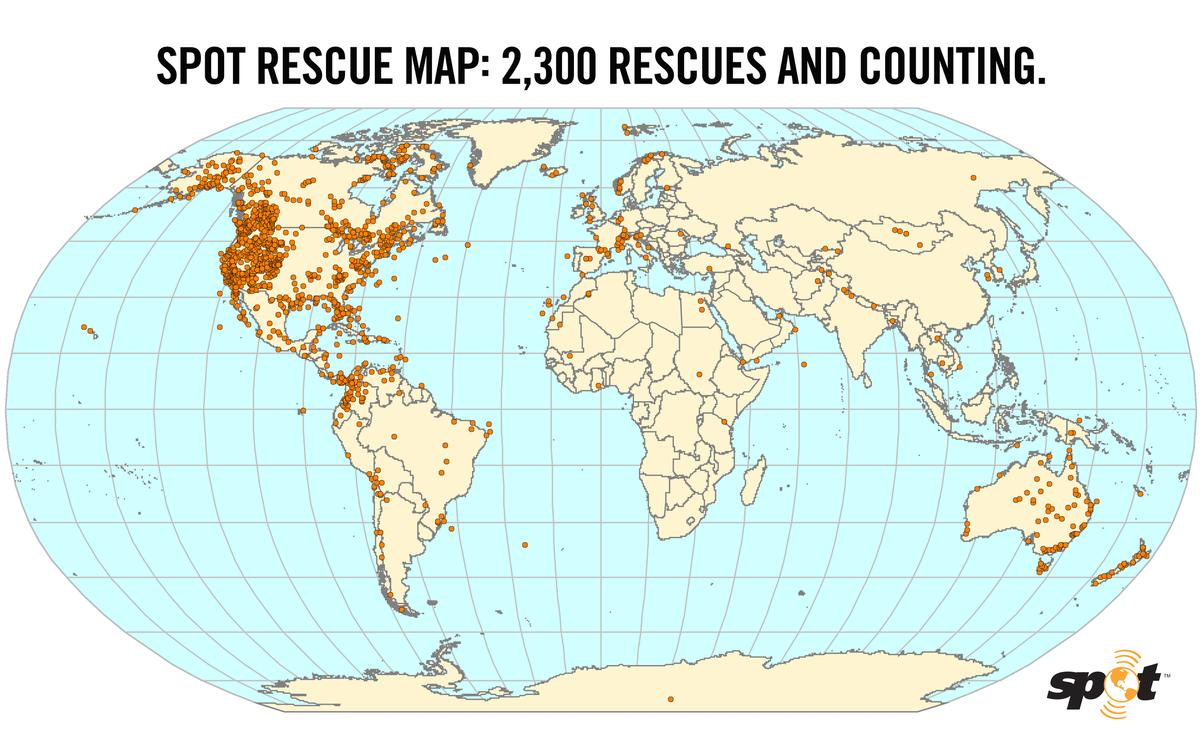SPOT-assisted rescue map