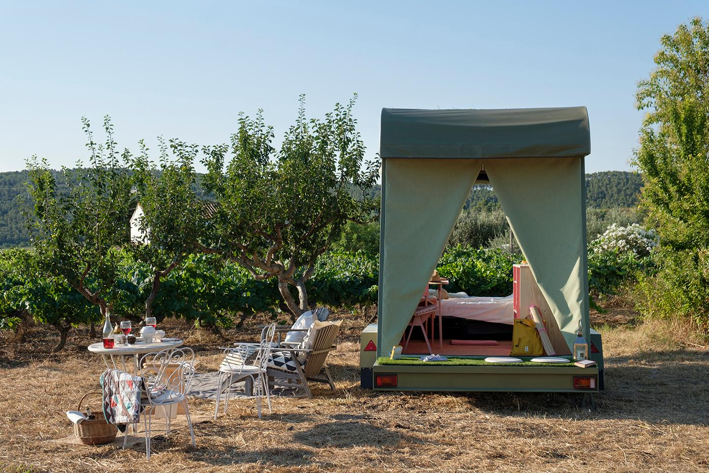 Pinea Mobile is part-built using sustainably-sourced wood
