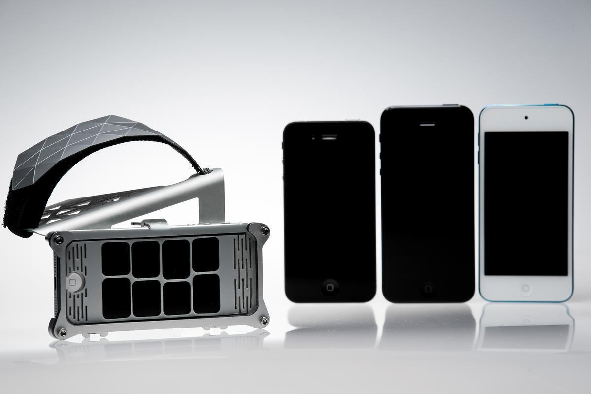 The Motion Synth is designed to let users play and alter music with their iOS device's motion sensor