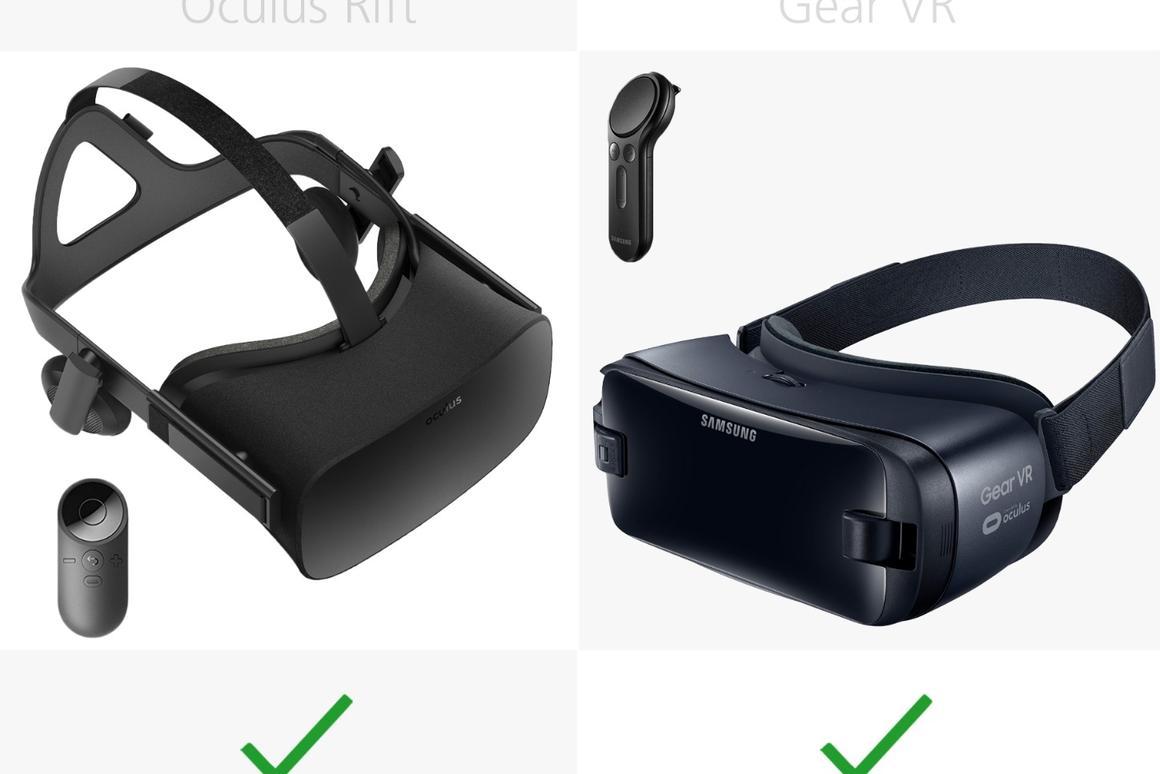 Oculus Rift vs  Gear VR (2017)