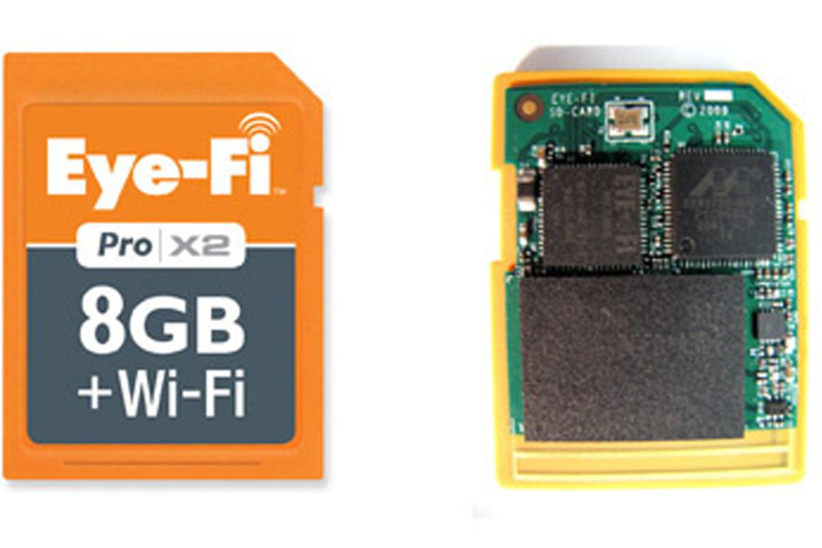 The Eye-fi Pro X2 SD card featuring Endless Memory Mode