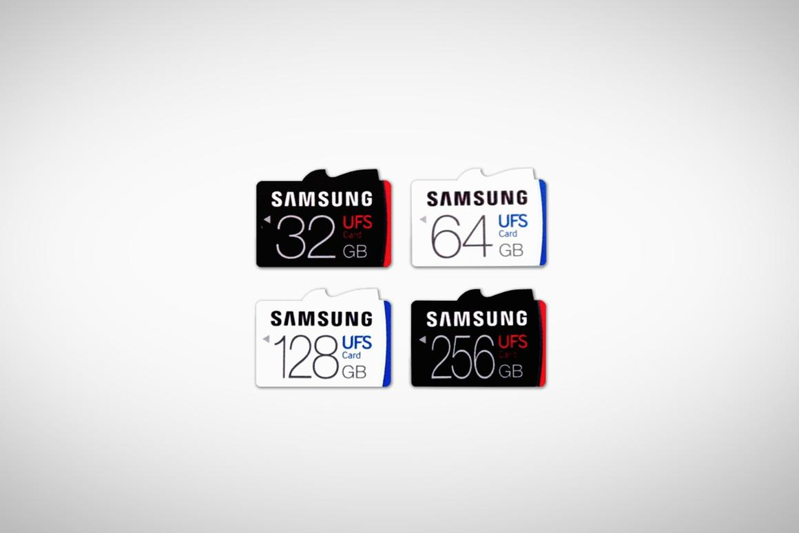 Samsung is the first brand to market with UFScards