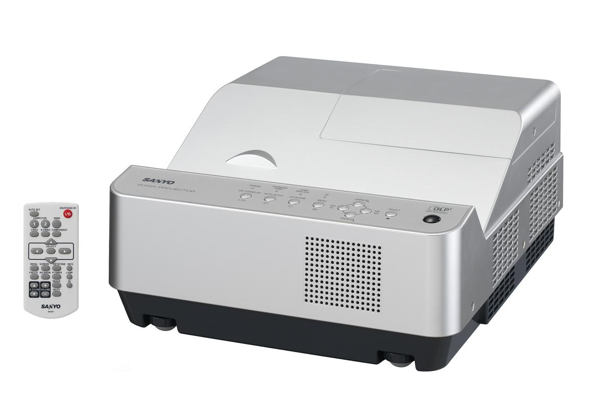 Sanyo has unveiled the world's shortest focus 3D-ready projector which can send an 80 inch image to a screen from less than an inch away