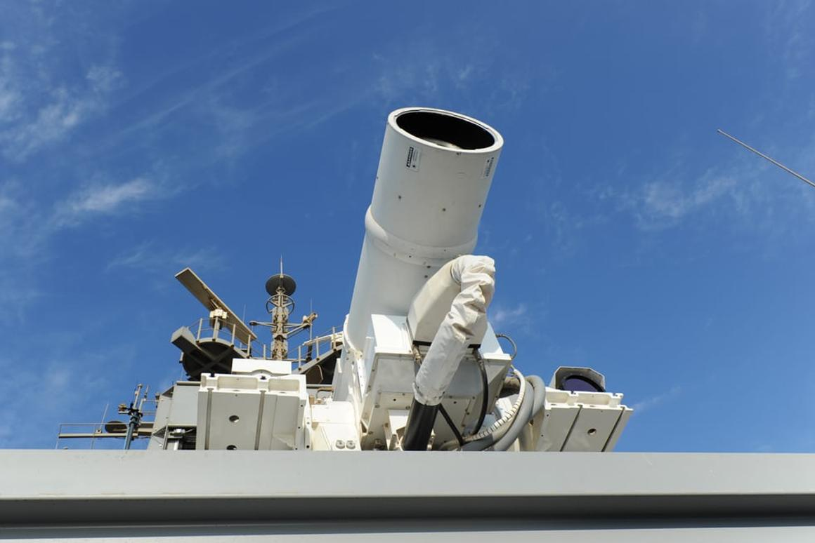 The British laser weapon would be similar to this one deployed by the US Navy