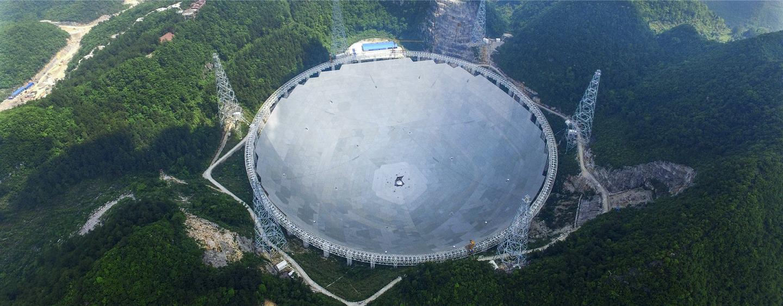 UAV image ofChina's FAST radio telescope