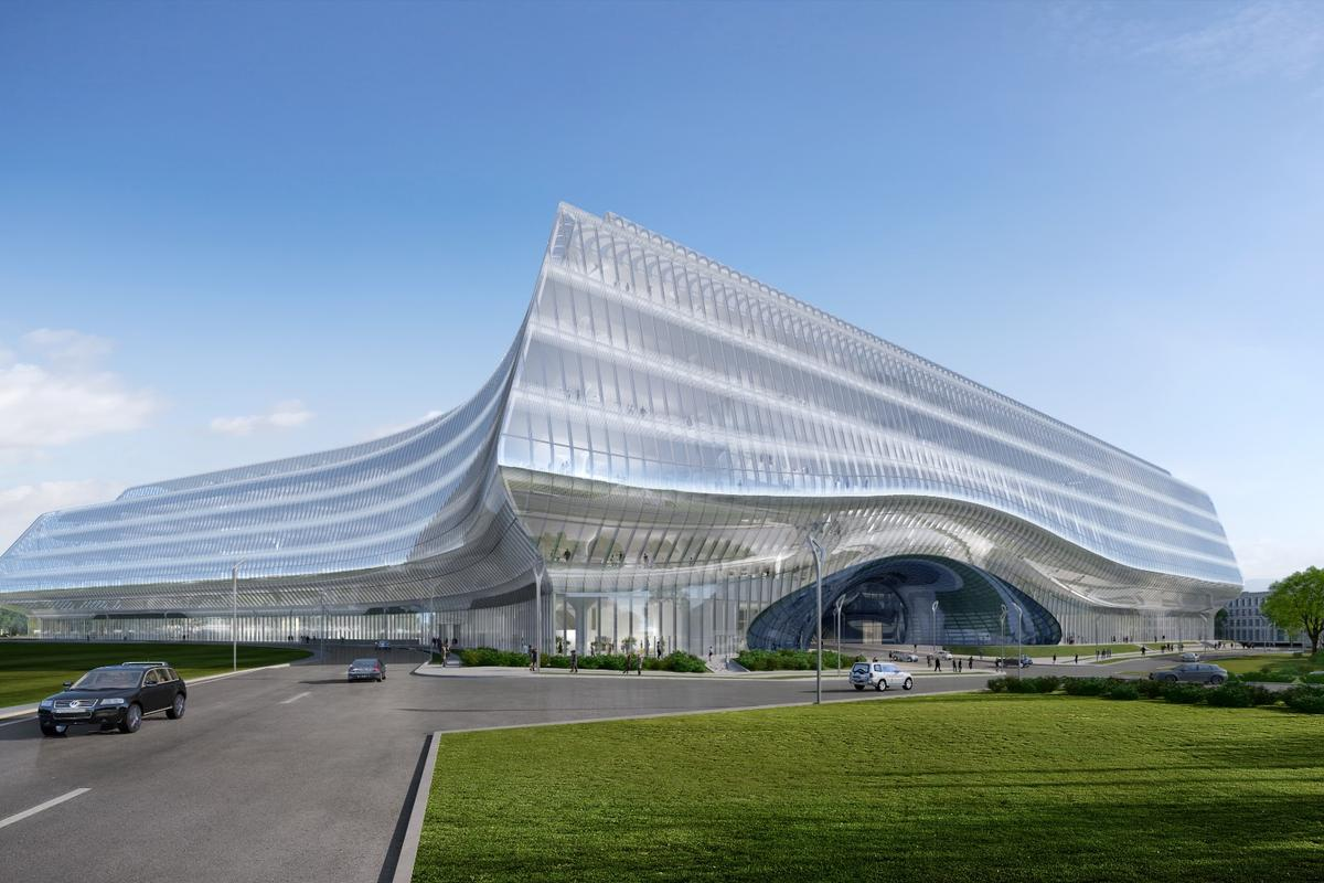 The Sberbank Technopark was commissioned by state-owned banking firm Sberbank following an architectural competition