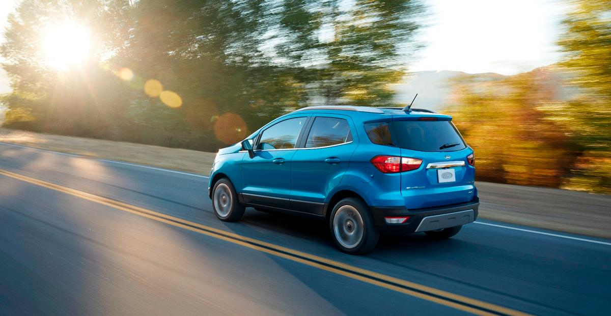 The EcoSport is designed look and feel bigger than it actually is