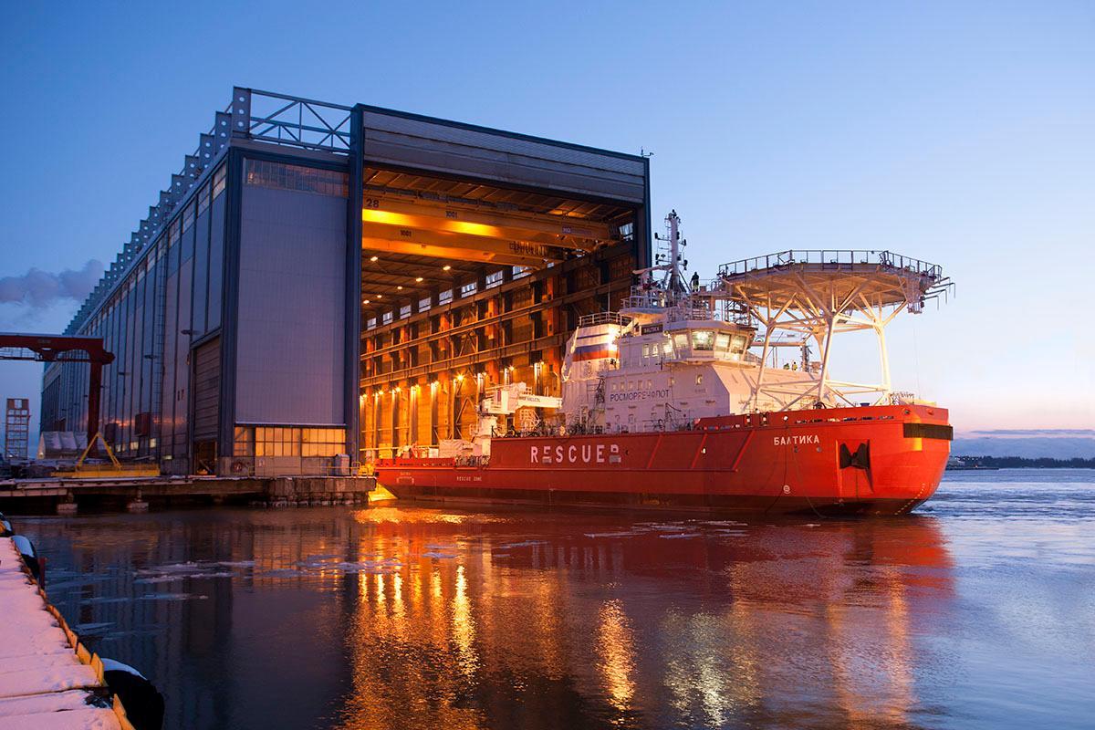 The Baltika at the Arctech Helsinki Shipyard