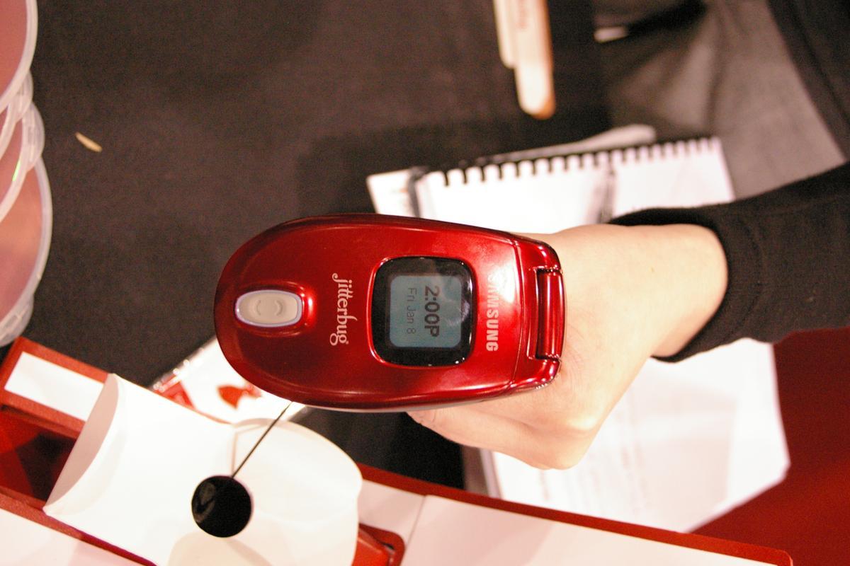 Smasung's Jitterbug J was shown at CES 2010