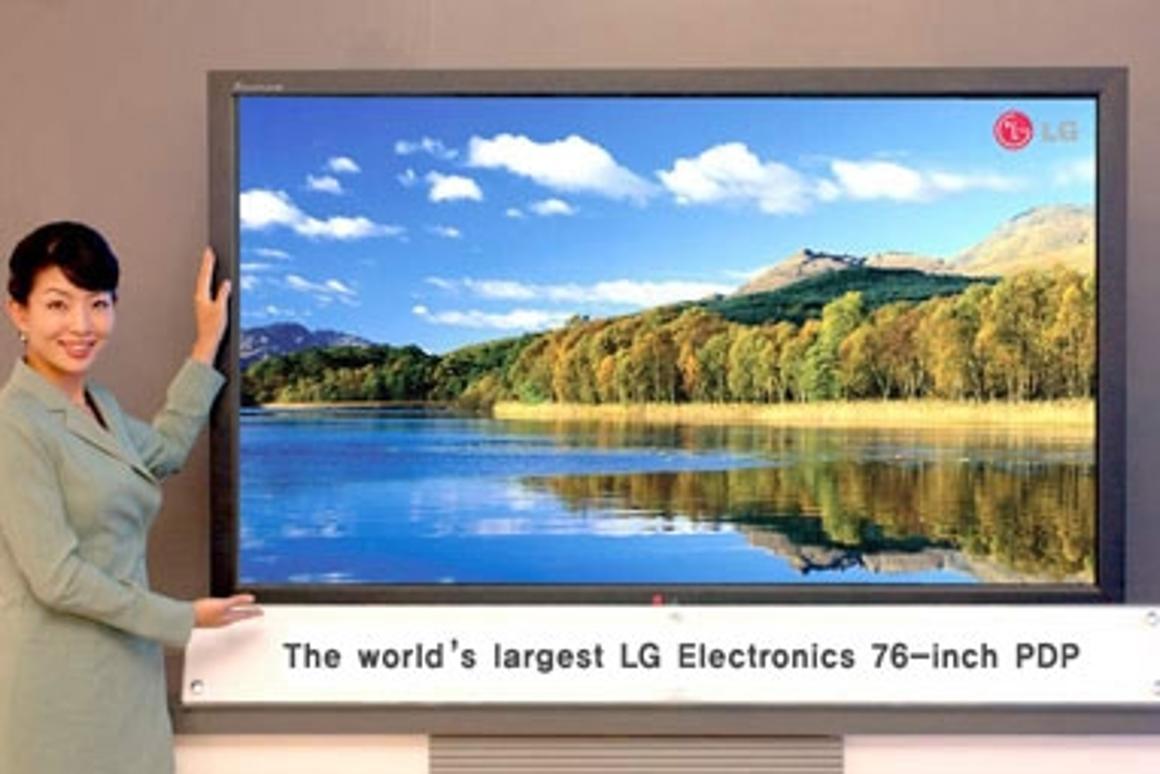LG Electronics unveils 76-inch Plasma TV