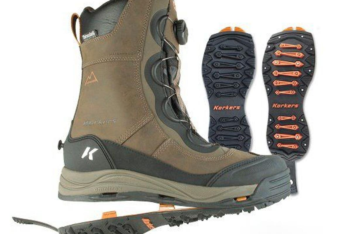 The Korkers Ice Jack is the heaviest winter boot in the line