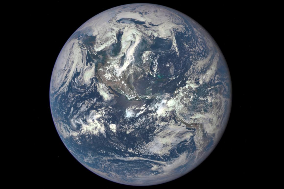 Earth from space as taken from NASA's DSCOVR spacecraft on July 6, 2015