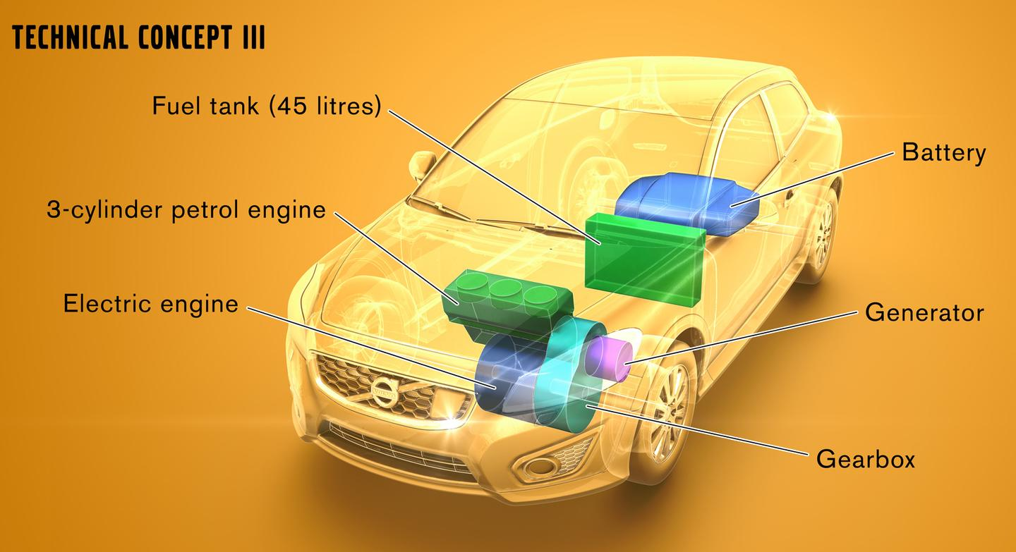 Volvo V60 with parallel-connected Range Extender