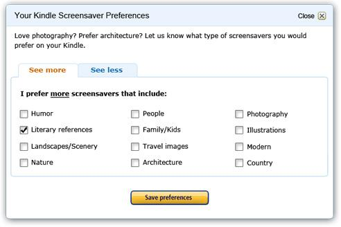 Users can select preferences for the ads they would prefer