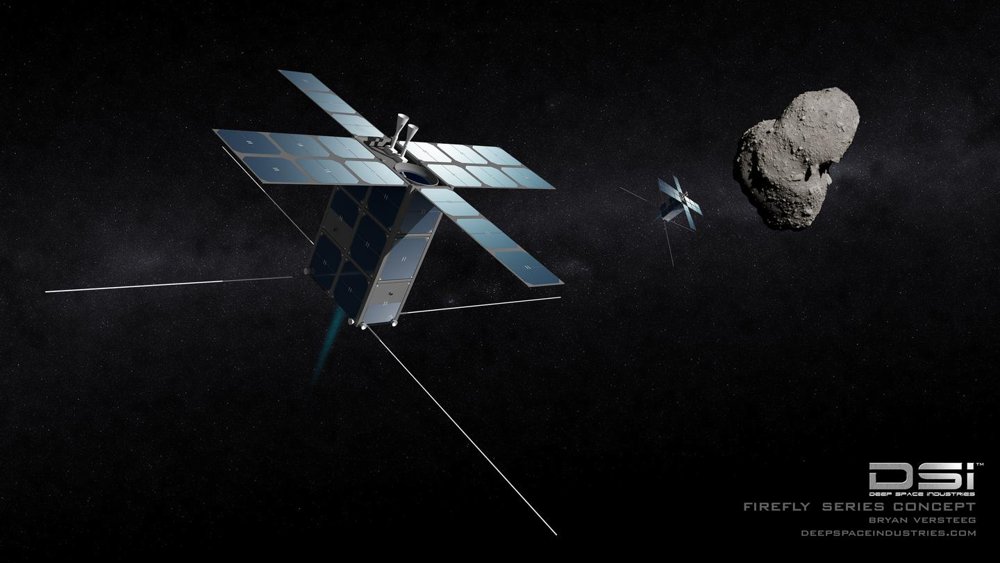 Artist's concept of the Deep Space Industries Firefly satellite (Image: Deep Space Industries)