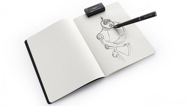 Wacom's Inkling is a system that digitizes and stores pen-and-ink sketches, as they're being drawn