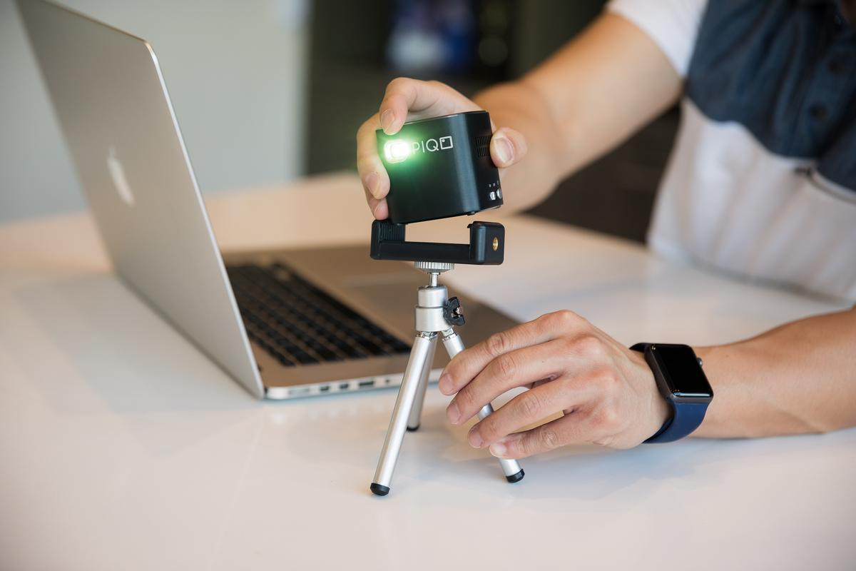 Piqo comes with a dinky little tripod, but it's all you need for most situations