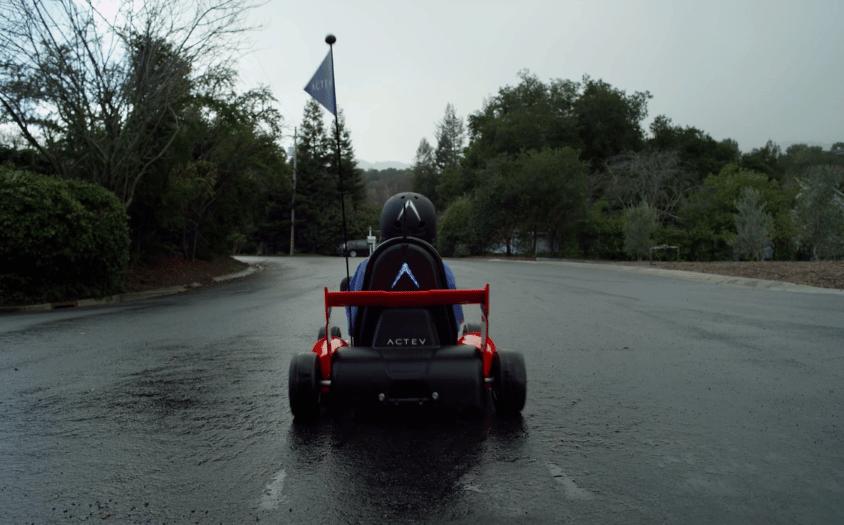 The Arrow Smart-Kart includes a rear brake/drive/reverse light
