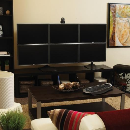 Eyefinity technology can power up to six better-than-high-definition displays from just one GPU
