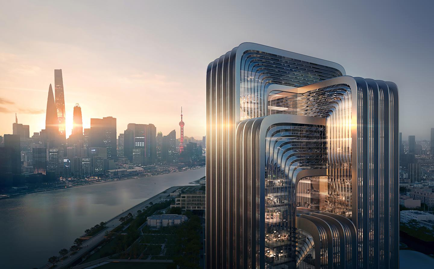 "The CECEP headquarters will be Shanghai's ""greenest"" new building, according to Zaha Hadid Architects"