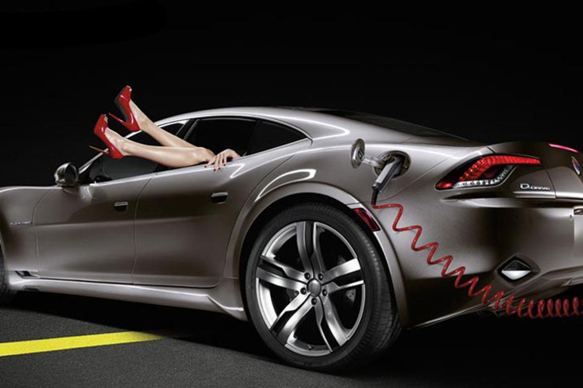 The Karma plug-in hybrid electric vehicle from Fisker Automotive