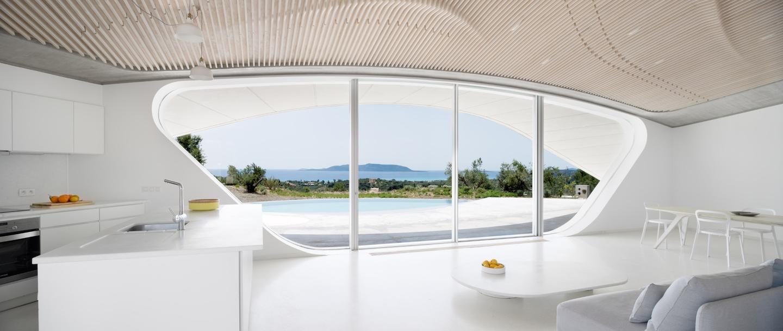 Villa Ypsilon measures 150 sq m (1,614 sq ft)