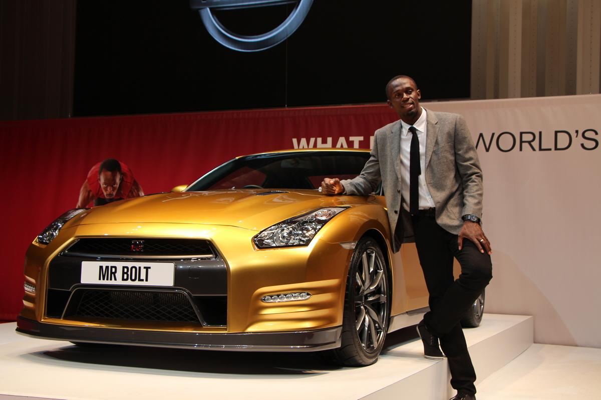 Usain Bolt's custom Bolt Gold GT-R will be auctioned off for his charity
