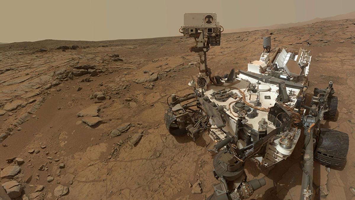 A self-portrait of NASA's Mars rover Curiosity