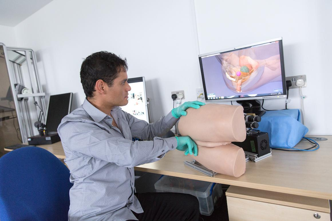 Scientists at Imperial College London have developed a roboticrectum that recreates the feel of the real thing, to aid med students in learning how to conduct prostate exams