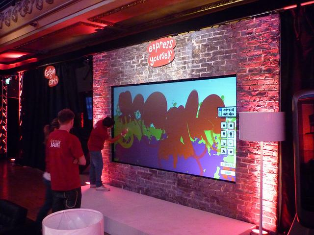 The YrWall Digital Graffiti Wall