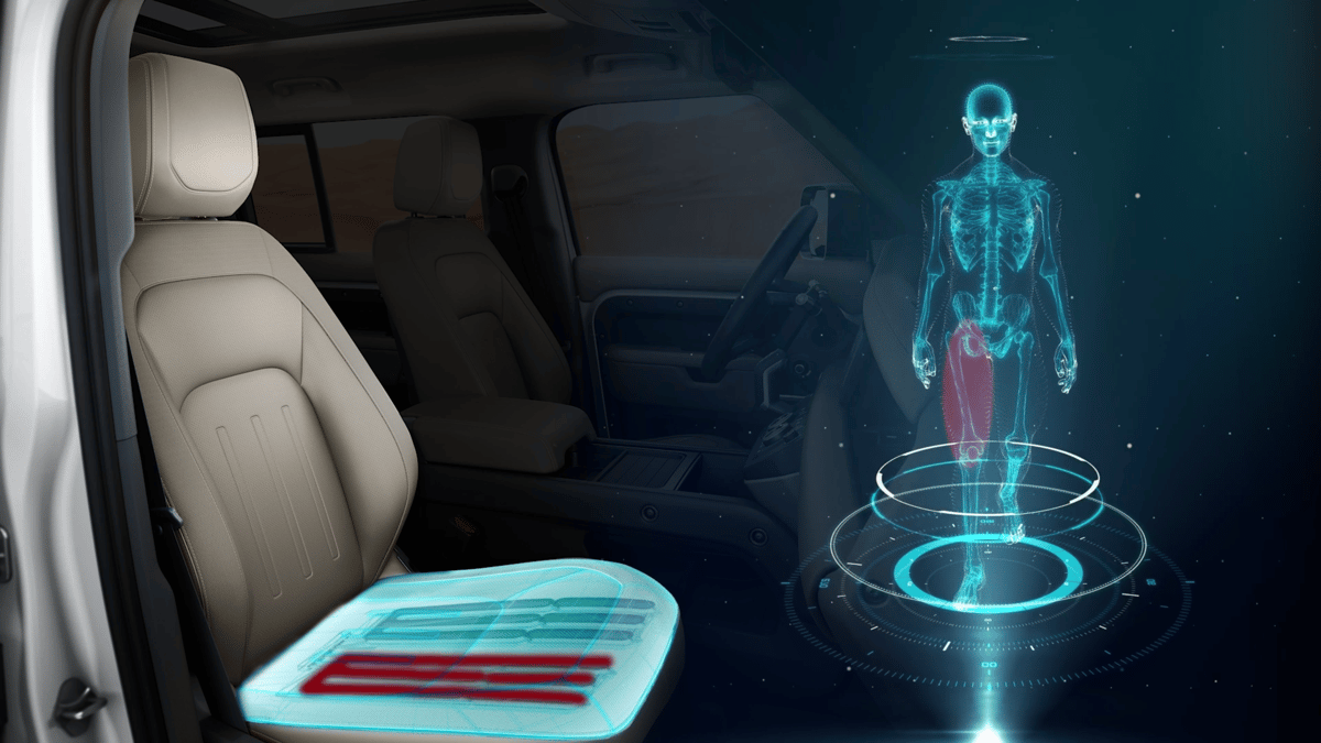 """The """"morphable"""" seat will provide continuous motion on long journeys to fool your body into thinking it's moving"""