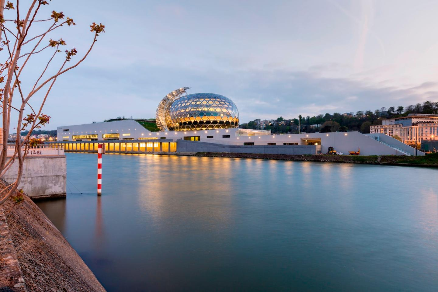 La Seine Musicale is located on an island in the center of Paris' Seine River