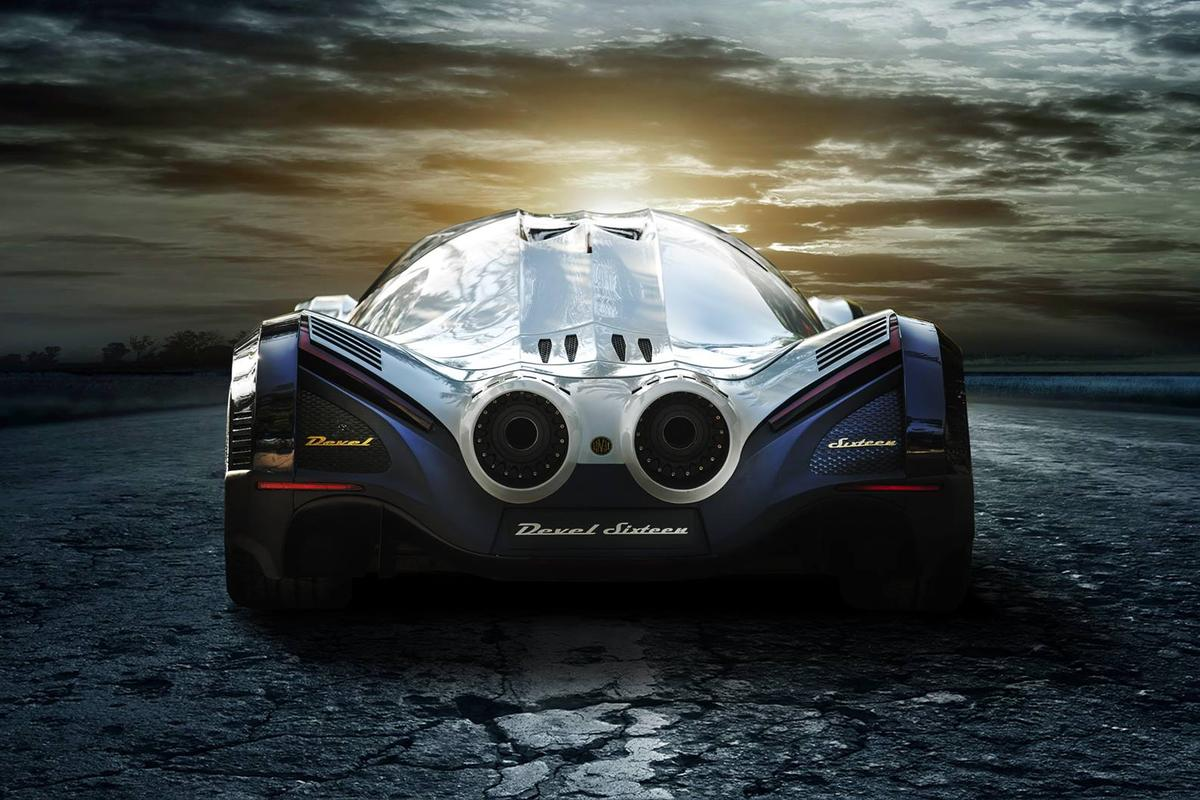 The Devel Sixteen's thunderous exhausts make one hell of a statement, but the motor more than backs it up