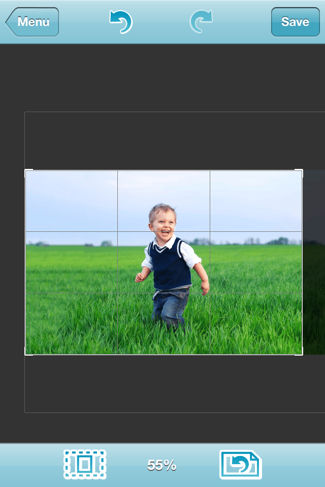 AntiCrop is an app that can add more background, such as a grassy field, to the border of a photograph