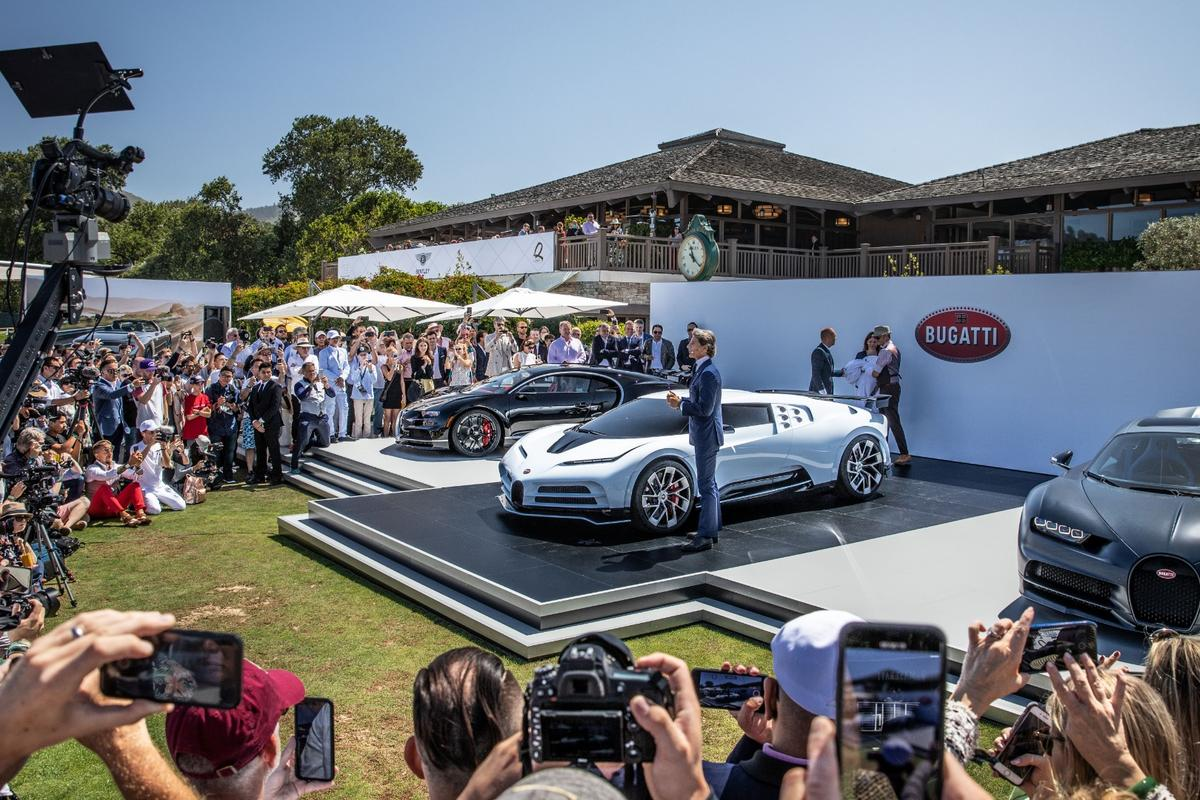Stephan Winkelmann, President of Bugatti, announces the new Centodieci