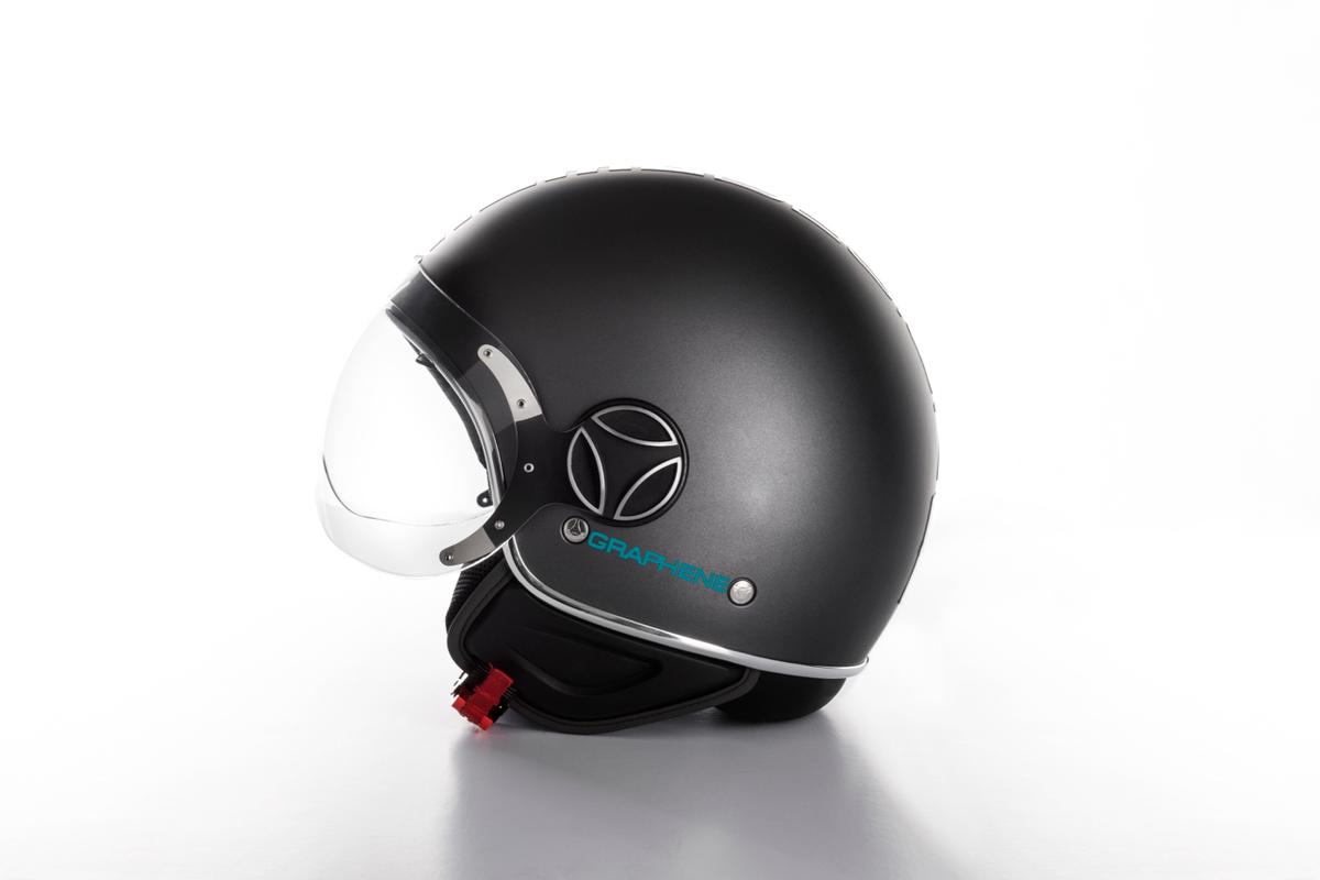The Graphene Helmet incorporates a spray-on coating of graphene flakes