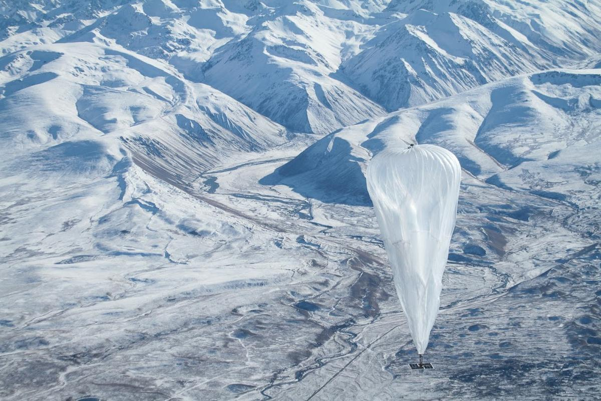 The Project Loon balloons are designed to fly through the stratosphere at around 20 km (12.4 mi) above the Earth's surface