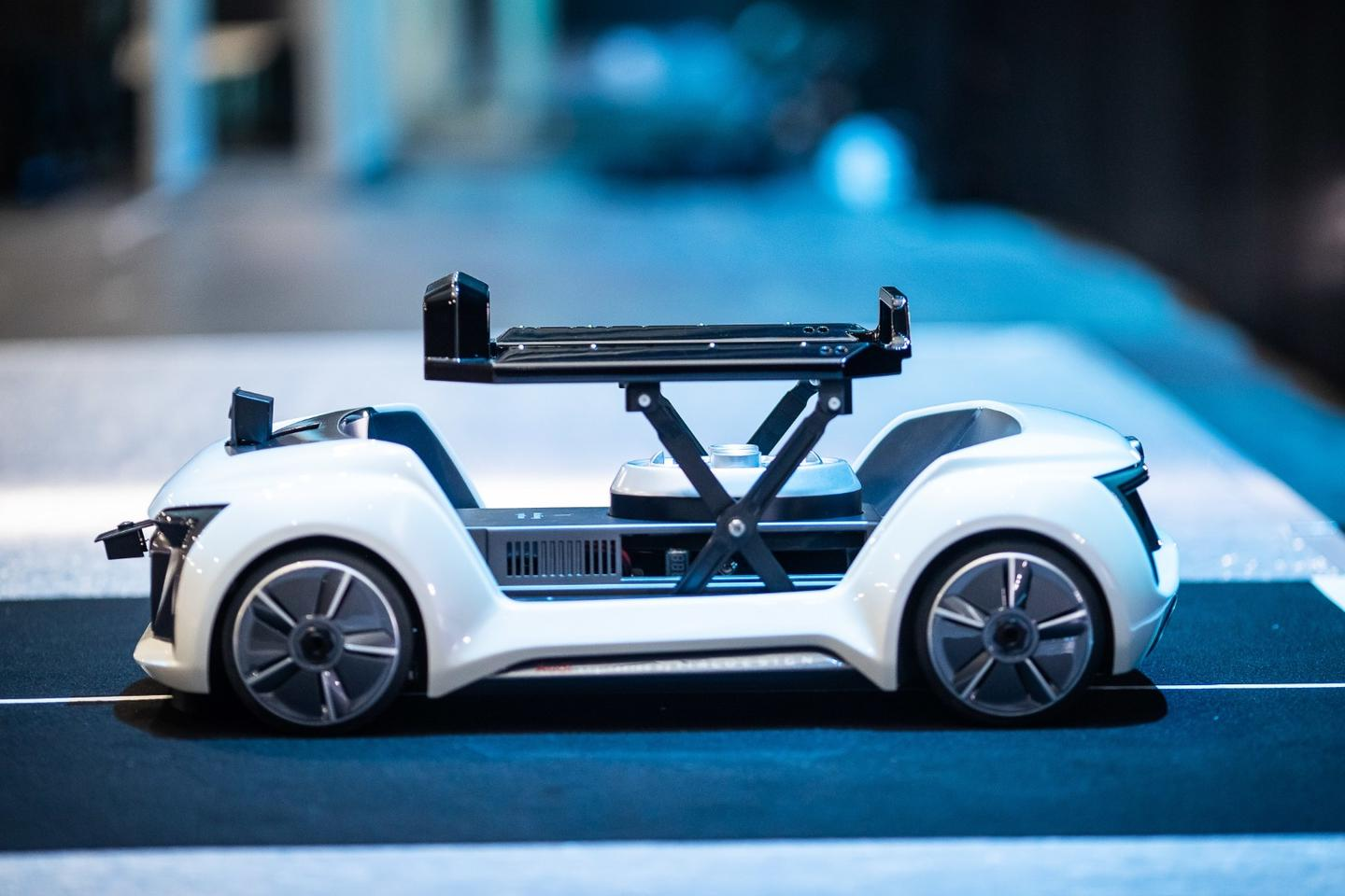 Part-drone, part-self-driving electric car, Audi is this week carrying out the first public demonstrations of itsPop.Up Nextconcept,albeit at just a quarter of the size the finished product