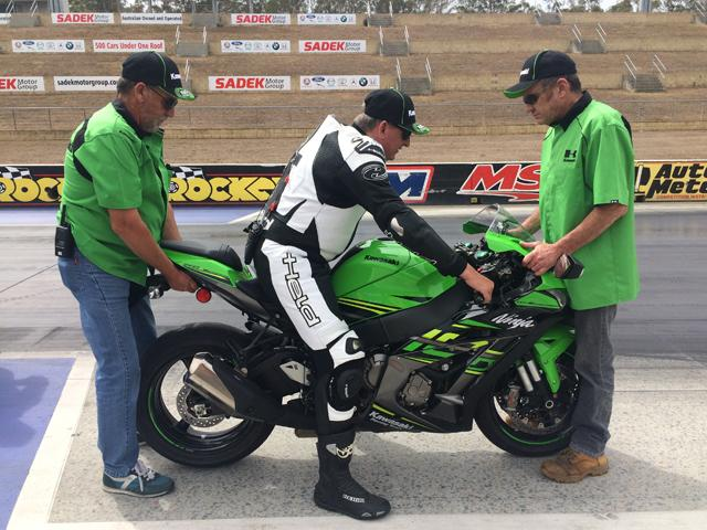 Ben Felten gets a feel for the ZX-10R he'll be using in his land speed record attempt