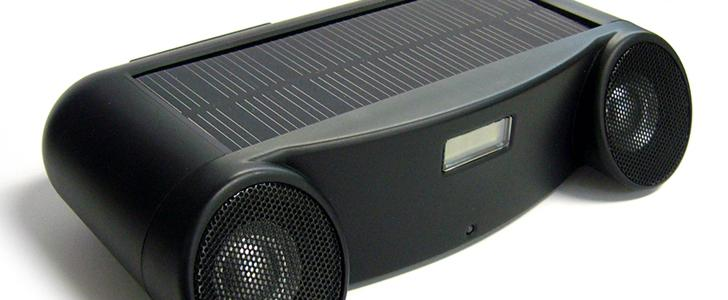 The Landport Solar Sound speakers