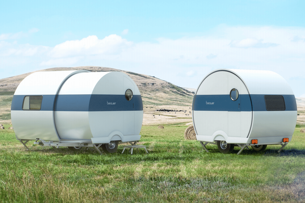The 2X expansion system creates a more spacious, comfortable outdoor living pod