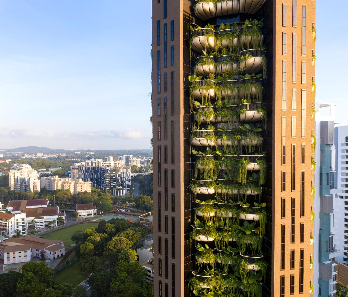 Eden was designed by Heatherwick Studio and is located in Singapore