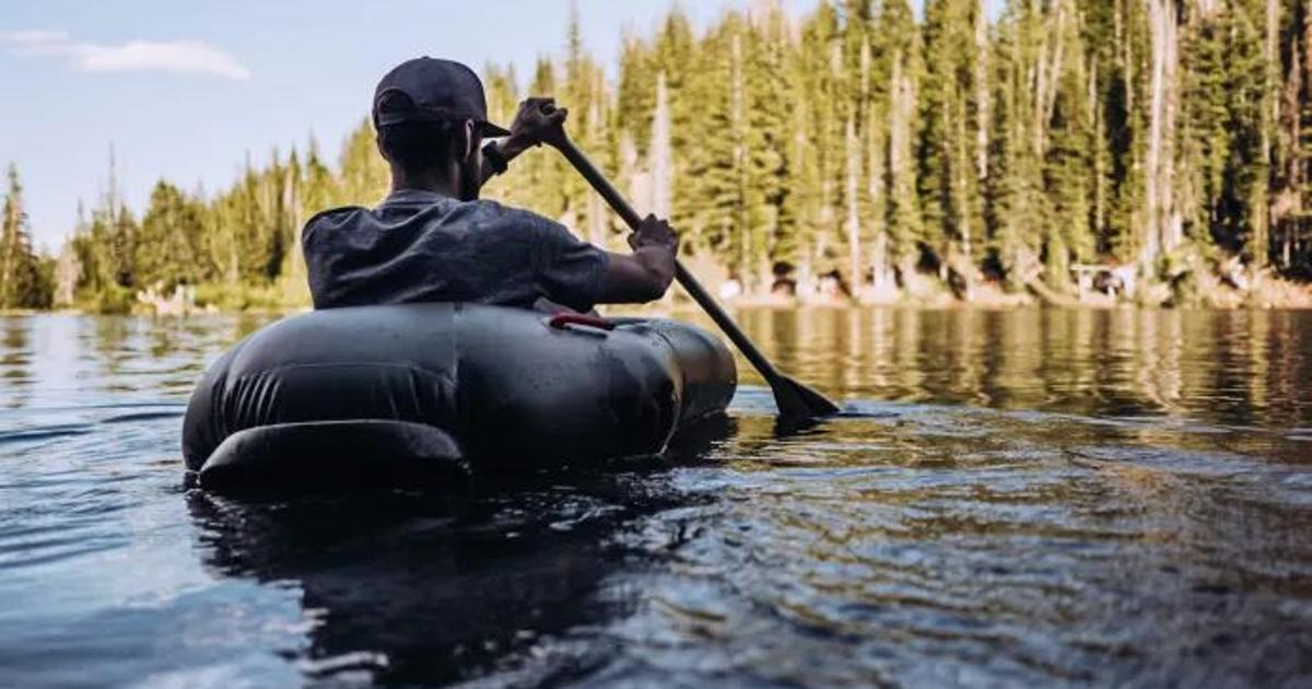 Ultralight pack raft is the size of a loaf of bread