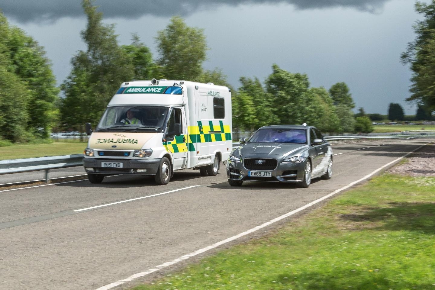 Jaguar wants to work with emergency services to make the roads safer