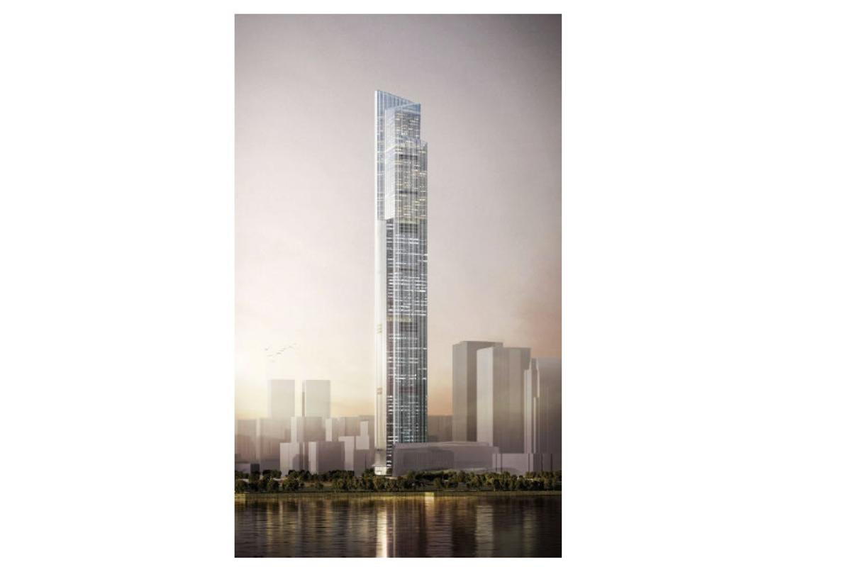 Hitachi's new ultra-high-speed elevators will be installed in the Guangzhou CTF Finance Centre, due for completion in 2016