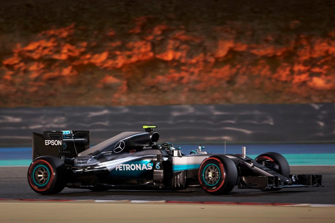 Nico Rosberg won the Bahrain GP after Lewis Hamilton's record pole lap