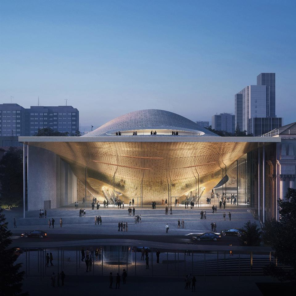 The new Sverdlovsk Philharmonic Concert Hall will include a 1,600-seat concert hall and a 400-seat chamber music hall