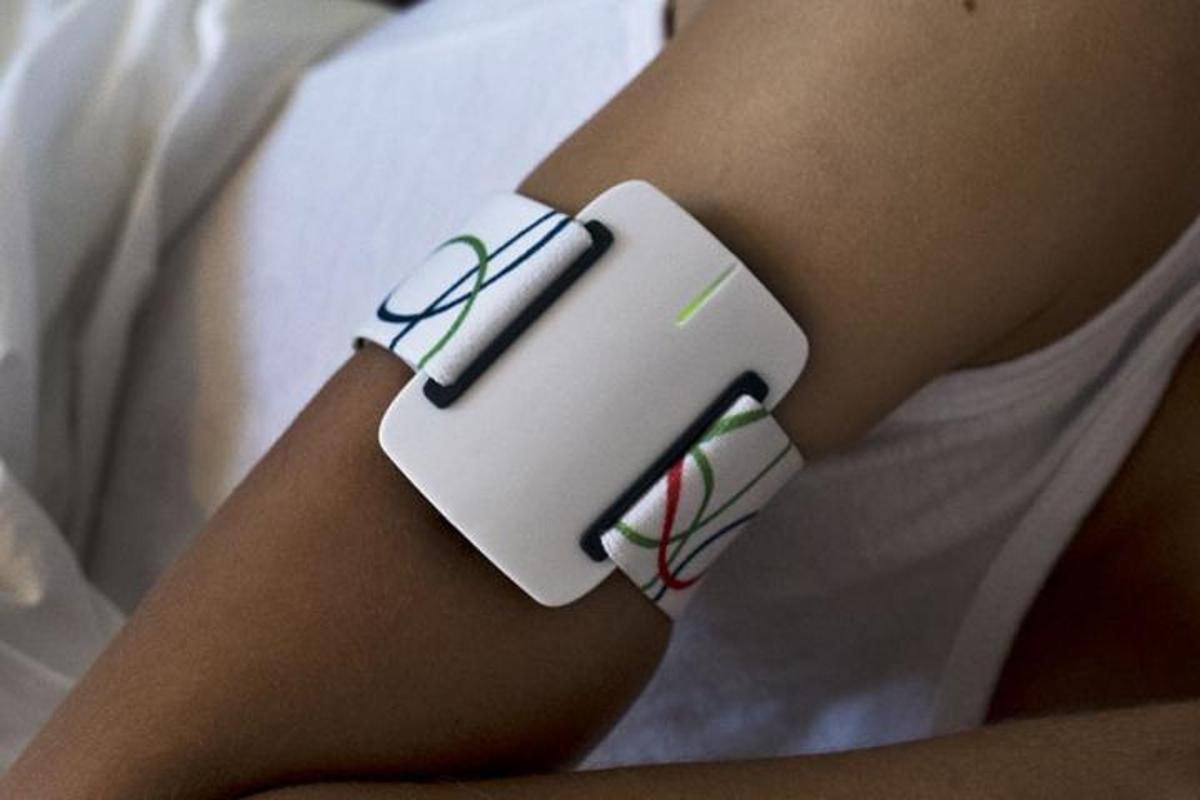 The NightWatch armband measures its wearer's heart rate, and detects movements associated with seizures