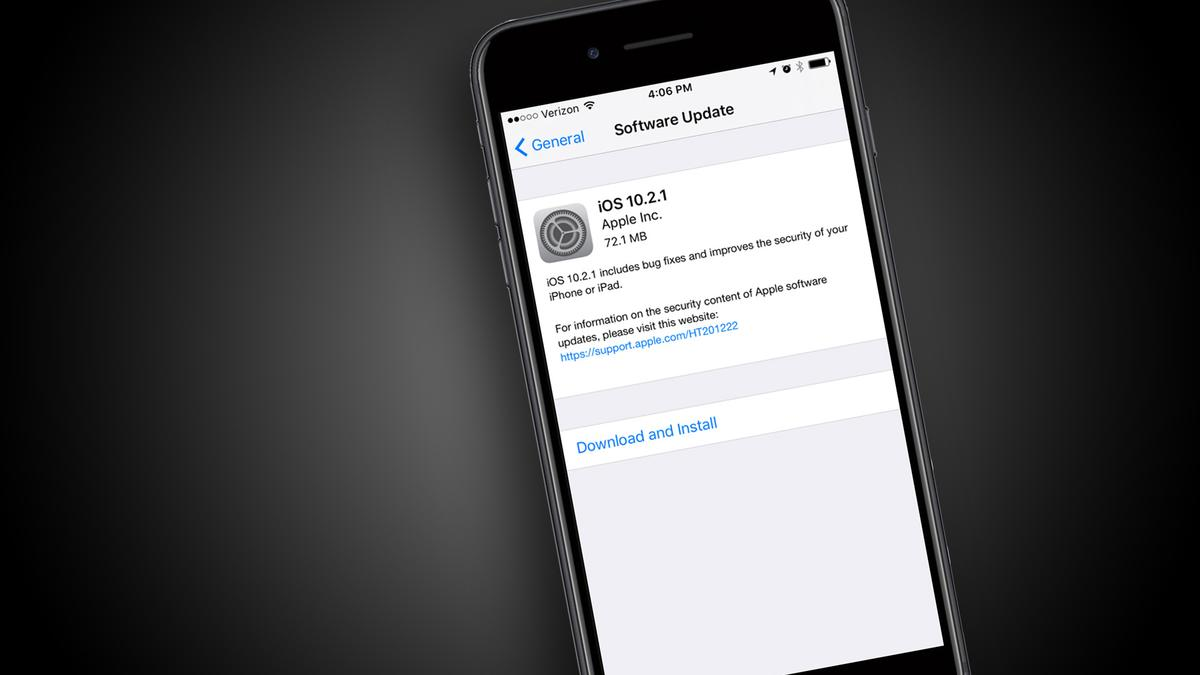 Today's iOS 10.2.1 update isn't one to delay downloading