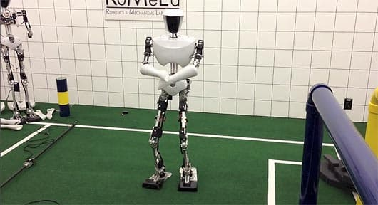 Researchers at Virginia Tech had some fun with their RoboCup soccer champ
